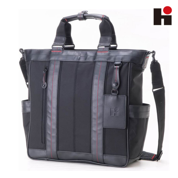 [히데오와카마츠 공식] HD FIELD II 2WAY NYLON WITH LEATHER TOTE BAG