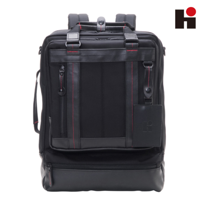 [히데오와카마츠 공식] HD FIELD II 3WAY NYLON WITH LEATHER BACKPACK