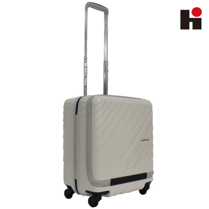 [히데오와카마츠 공식] HD MAX CABIN WAVE 4WHEELS TSA ZIPPER TROLLEY [IVORY] [기내] [42리터] [3.3키로]