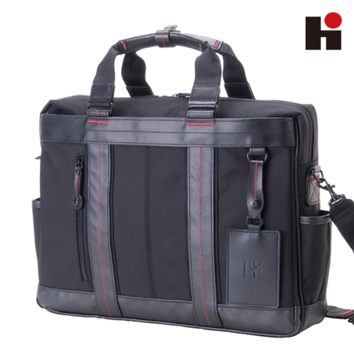 [히데오와카마츠 공식] HD FIELD II 2WAY NYLON WITH LEATHER BUSINESS BAG [L]